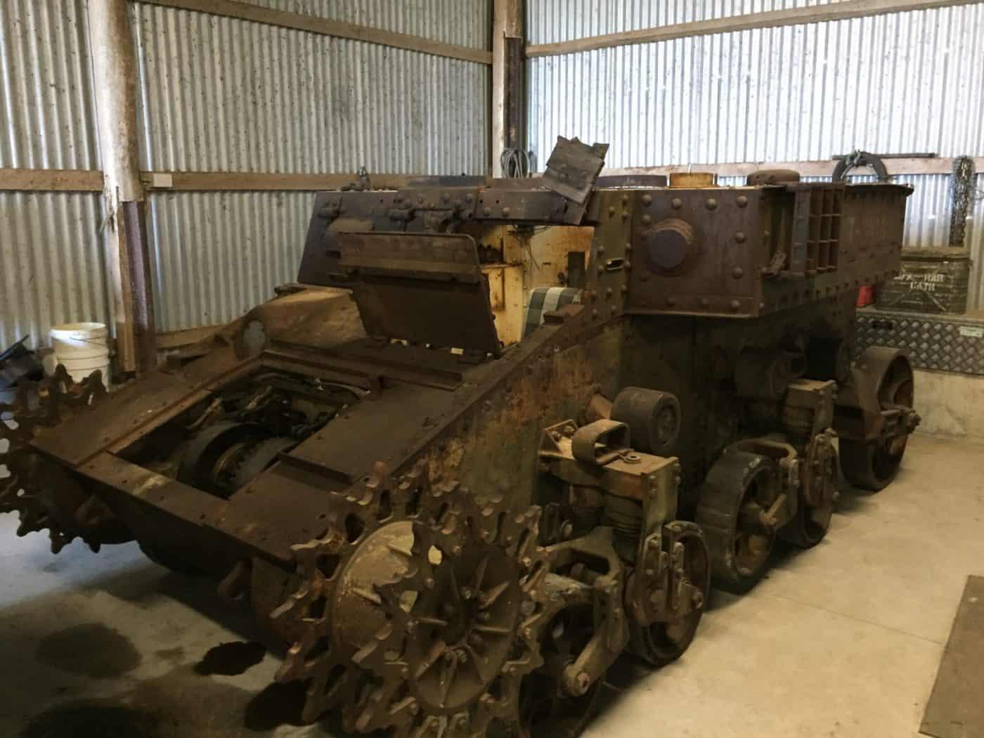 Stuart Tank - under restoration